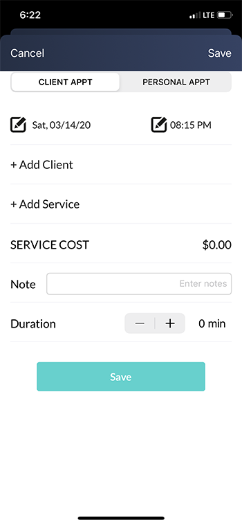 personal appointment app